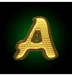 Golden letter vector