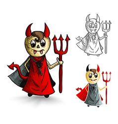Halloween monsters isolated sketch style devils vector