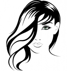 Female portrait vector