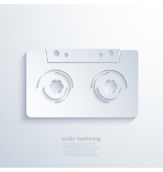 Modern audio marketing background vector
