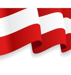 Background with waving austria flag vector