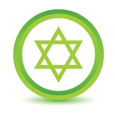 Green judaism icon vector