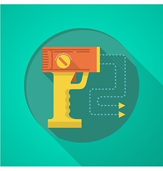 Stun gun flat color icon vector