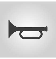 The horn icon clarion symbol flat vector