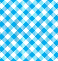 Blue tablecloth diagonal seamless pattern vector