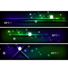 Set of banner header backgrounds with place for vector