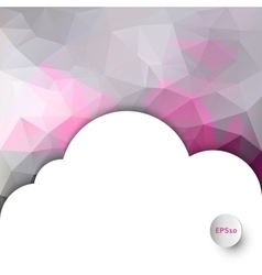 Polygonal background with cloud copyspace vector