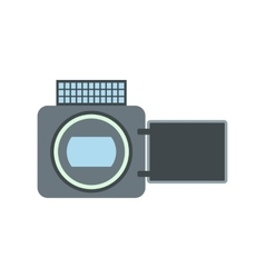 Video camera flat icon vector