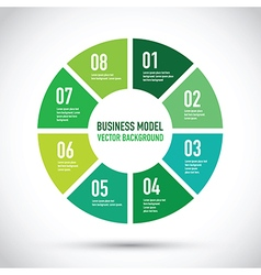 Business model set vector