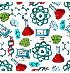Science and genetics seamless pattern vector