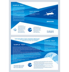 Brochure airplane flight tickets air fly cloud sky vector
