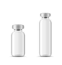 Blank glass medical bottle vector