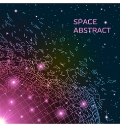 Abstract background with exploded shiny grid vector