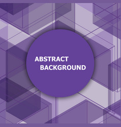 abstract background with purple hexagon vector image