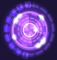 Abstract technology violet background with circles vector image