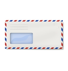 Air mail dl envelope with window for address vector