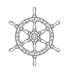 an old nautical wooden vector image