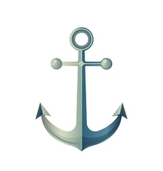 Anchor Isolated on White Made of Metal Device vector image