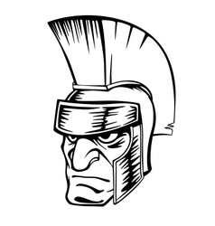Ancient warrior in helmet vector image