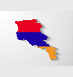 Armenia map with shadow effect vector
