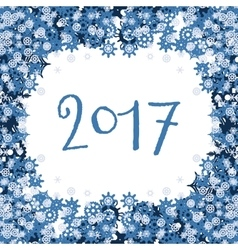 background with blue snowflakes and text vector image vector image