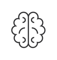 brain line icon sign on vector image