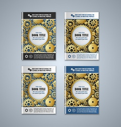 Brochure cover templates vector image