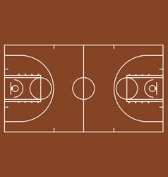 Brown basketball court vector