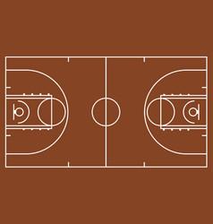 Brown basketball court vector