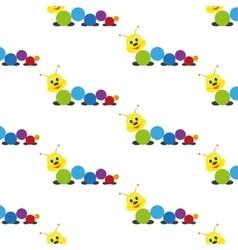 Caterpillar baby toy pattern vector