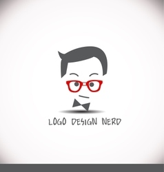 Creative logo design idea nerd vector