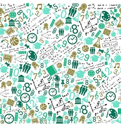 Education icons back to school seamless pattern vector image vector image