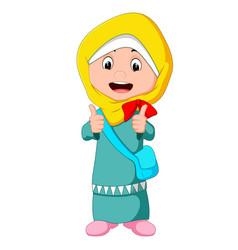 female muslim standing vector image