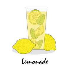 gentle drawn of a glass with lemonade vector image vector image