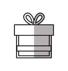 gift box ribbon bow shadow vector image