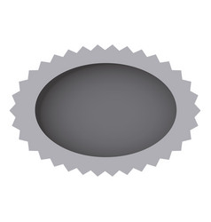 Grayscale oval cloud bubble icon vector