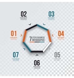 Heptagon infographic vector