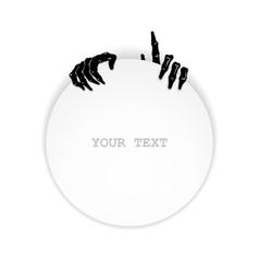 Just zombie hands vector image