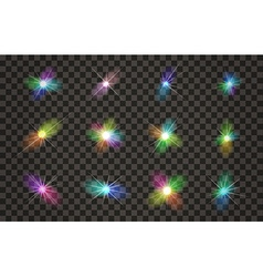 Light effects set with transparent background vector