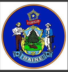 maine state seal vector image vector image