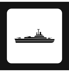Military navy ship icon simple style vector image vector image