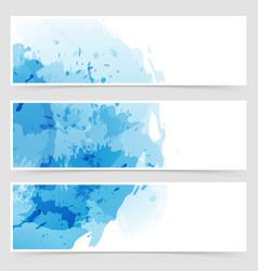 modern transparent web watercolor header vector image vector image