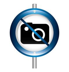 Prohibition camera vector