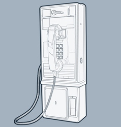 public phone line vector image vector image