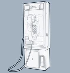 public phone line vector image
