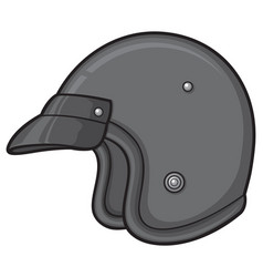 Retro motorcycle helmet vector