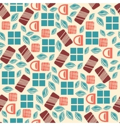 Seamless pattern with chocolate sweets isolated on vector image vector image