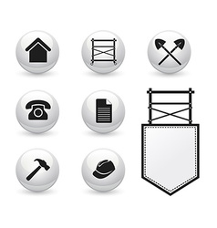 Set of icons for scaffolding company vector