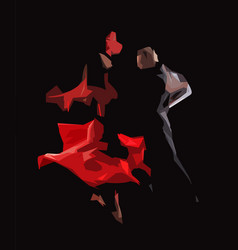 Tango passion - geometric abstract drawing vector