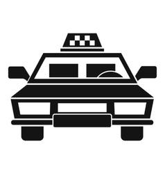 Taxi car icon simple style vector